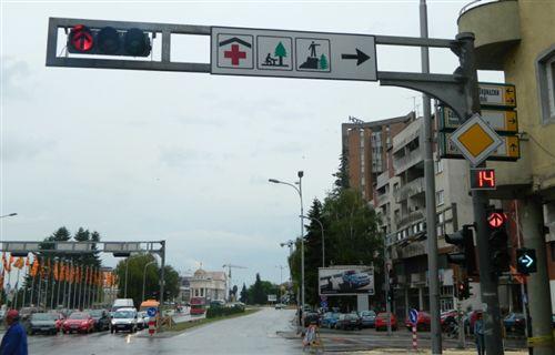 Tajmeri i vendosur në pajisjen për dhënien e sinjaleve ndriçuese të komunikacionit (si në fotografinë), tregon: