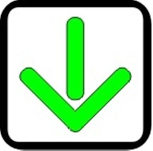 Shigjeta e gjelbër ndriçuese e kthyer me majën teposhtë (si në fotografinë), e vendosur mbi korsinë e komunikacionit, tregon: