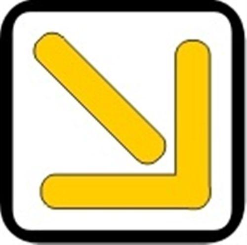 Shigjeta e verdhë e vendosur mbi korsi (si në fotografinë), me majën e kthyer kah ana e djathtë apo e majtë, tregon: