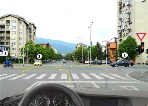 Sipas situatës së paraqitur në fotografi, kur në semafor është kyçur dritë e verdhë vezulluese, unë: