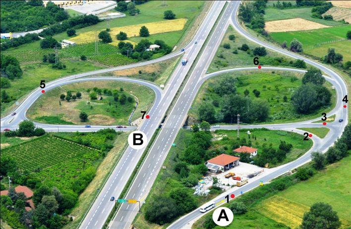 Autobusi nga pozita A deri te pozita B do të lëvizë nëpër drejtimin e ardhshëm:
