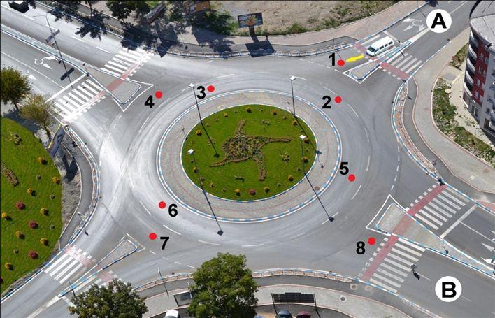 Automjeti kombi nga pozita A deri te pozita B do të lëvizë nëpër drejtimin e ardhshëm: