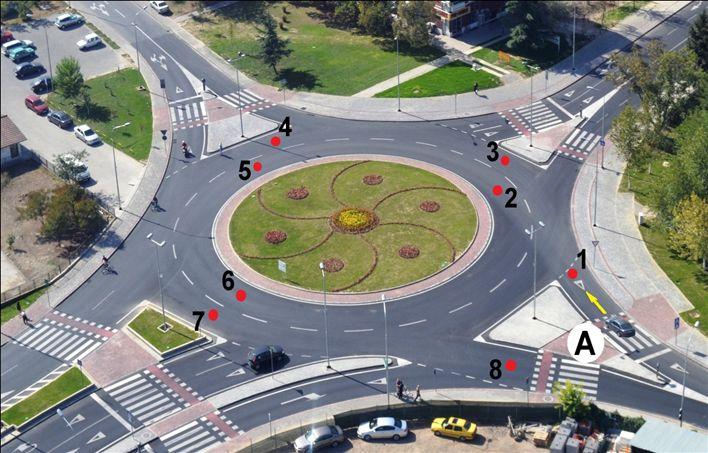 Vetura nga pozita A deri te pozita A do të lëvizë nëpër drejtimin e ardhshëm: