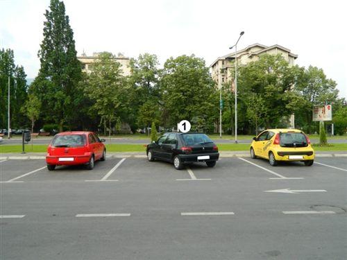 Shoferi i veturës të shënuar me numër 1, në sipërfaqen e komunikacionit të dedikuar për parkimin e automjeteve: