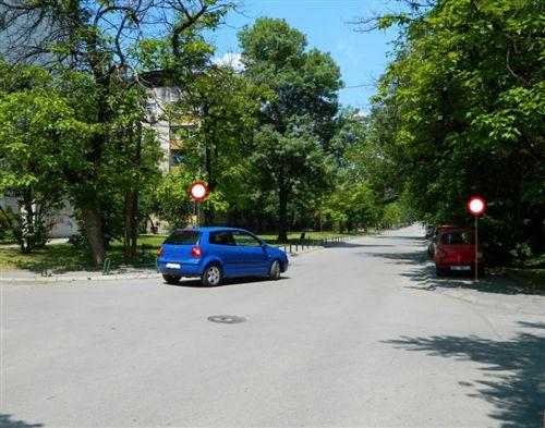 Automjeti i paraqitur në fotografi kyçet në rrugën anësore: