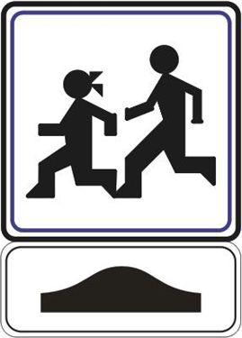 Дополнителната табла поставена под сообраќајниот знак означува: